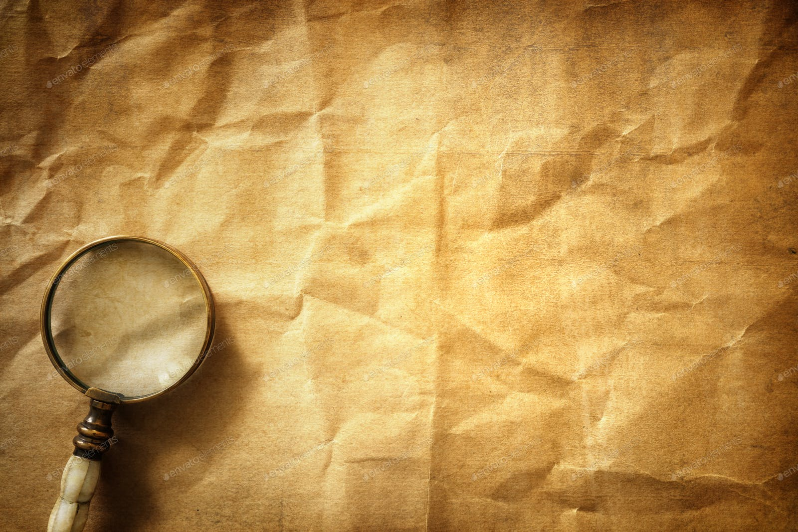 The use of best focus with magnifying glass